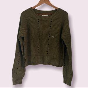 Aeropostale Women's Sweater in Olive